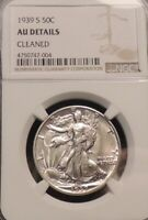 1939-S LIBERTY HALF DOLLAR-NGC AU DETAILS FROM COMPLETE HIGH GRADE SET-