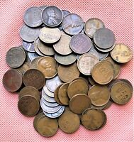 75 WHEAT CENTS 1909-1940: 1909 VDB, 1910-P, 1911-P, 1911-D, 1912-P & MORE, 0