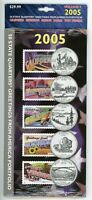 2005 50 STATE QUARTERS AND GREETINGS FROM AMERICA STAMPS SET