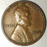 1936-S 1C LINCOLN WHEAT CENT 18RR2903 ONLY 50 CENTS FOR SHIPPING