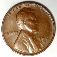 1941-S 1C LINCOLN WHEAT CENT 18RR0827 ONLY 50 CENTS FOR SHIPPING