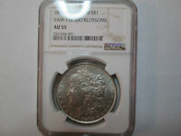 1878-VAM 115 NGC AU 55 TOP 100 MORGAN SILVER DOLLAR