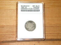 1885 LIBERTY NICKEL KEY DATE  OLD SLAB ANACS VG DETAILS  STRONG DATE