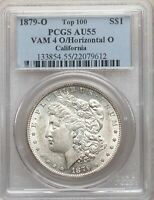 1879-O VAM-4 O/O PCGS AU55 O OVER HORIZONTAL O MORGAN SILVER DOLLAR TOP100 VAM4