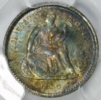 CACPCGS MINT STATE 64 1860 O SEATED HALF DIME
