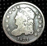 1831 CAPPED BUST HALF DIME SILVER US COIN