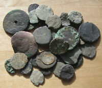 THIRTY CULL ANCIENT COINS   INCLUDES A TINY WELL WORN SILVER COIN