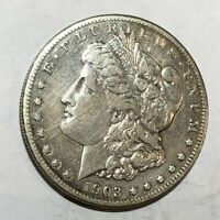 1903-S VF MORGAN SILVER DOLLAR. OLD CLEANING. LOTAUX2