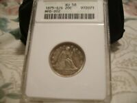 1875 S/S TWENTY CENT PIECE   ANACS AU 58   MPD   EXCELLENT S