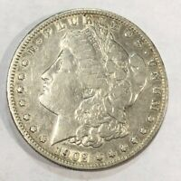 1902-S VF MORGAN SILVER DOLLAR. LOTER1 OLD CLEANING