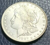 1887 MORGAN SILVER DOLLAR - BRILLIANT UNCIRCULATED QUALITY -  A BEAUTIFUL COIN