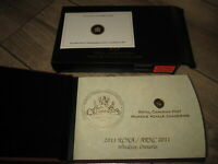 2011 RCNA SPECIAL EDITION CANADA SILVER PROOF SET GOLD PLATED. 200 ISSUED.