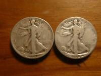 1927-S & 1928-S WALKING LIBERTY HALF DOLLAR CIRCULATED CONDITION SKU17663