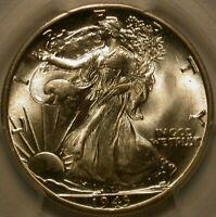 1943-D WALKING LIBERTY HALF DOLLAR PCGS SECURE & CAC MINT STATE 67 A WOW COIN