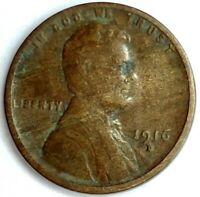 1916-D 1C LINCOLN WHEAT CENT 19RR1118 50 CENTS SHIPPING