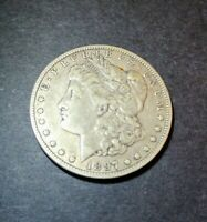 EARLY 1897-O MORGAN SILVER DOLLAR - 90 US COIN