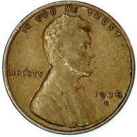 1938-D 1C LINCOLN WHEAT CENT 18RR0827 50 CENTS SHIPPING
