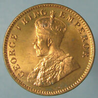 BORDERLINE GEM BU 1936 C GEORGE V ONE QUARTER ANNA