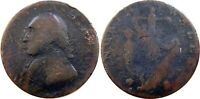 1795 WASHINGTON NORTH WALES HALFPENNY BAKER 34 SCARCE TYPE N