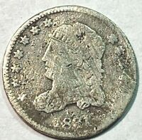 1831 CAPPED BUST HALF DIME ACE 617