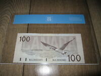 1988 $100 BANK OF CANADA CCCS CHOICE UNC64. BC 60C. KNIGHT THIESSEN.