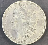 1897-O $1 MORGAN SILVER DOLLAR VAM 6