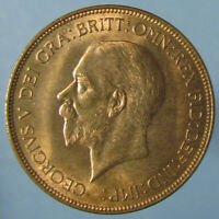 BEAUTIFUL FULL RED GEORGE V PENNY