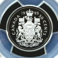 PCGS CERTIFIED PR69DCAM CANADA 1995 50 CENT OUTSTANDING UNCIRCULATED PROOF COIN