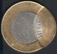 INDIA  RS.10/  BI METAL  OFF CENTRE ERROR ..8