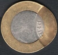 INDIA  RS.10/  BI METAL  OFF CENTRE ERROR ..2