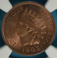 1905 INDIAN HEAD CENT NGC MINT STATE 65RB- EXCEPTIONAL EYE APPEAL, GEM EXAMPLE
