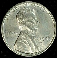 1943-P 1C LINCOLN WHEAT CENT AU 19LTL1109 50 CENTS SHIPPING