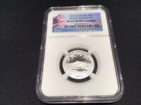ATB QUARTER SILVER PROOF 2013 S  WHITE MOUNTAIN  NGC PF69 UL