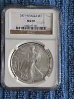 2007 W   SILVER EAGLE NGC MS69