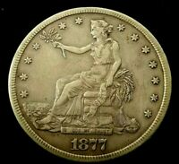 1877 S SEATED LIBERTY XF DET TRADE DOLLAR $1.00 SILVER US CO