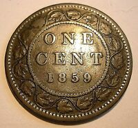 1 CENT 1859     PC59 233  REPUNCHED 5          ADD LOTS $0.25 EA.