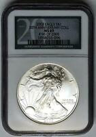 2003 NGC MINT STATE 69 SILVER EAGLE 20TH ANNIVERSARY COLLECTION  96 OF 2005