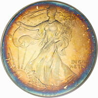 1993 ASE $1 PCGS MINT STATE 68 SILVER EAGLE  GORGEOUS ELECTRIC COLOR