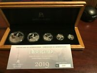 2019 5 COIN MEXICAN LIBERTAD PROOF SET COA WOOD BOX 1 OZ 1/2