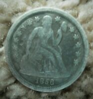 1856 SMALL DATE SEATED LIBERTY DIME