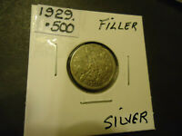 1929 ENGLISH SIX PENCE FILLER COIN     .500 SILVER     >> S