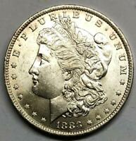 1883-O MORGAN SILVER DOLLAR   TILTED