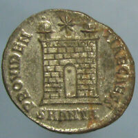 HIGH GRADE SILVERED CONSTANTIUS II CAMP GATE AE 3 FROM ANTIOCH