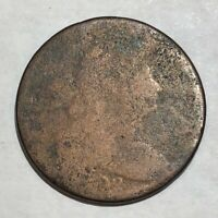1802 DRAPED BUST LARGE CENT. POOR, HEAVY WEAR, DATE BARELY IDENTIFIABLE UGR1