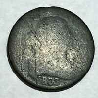 1803 DRAPED BUST LARGE CENT. FAIR/POOR, HEAVY WEAR. LOTNR2