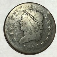 1810 CLASSIC HEAD LARGE CENT. AG, SMOOTH BROWN. LOTNK4