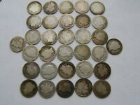 32 LOT BARBER DIMES 1892 TO 1916 SOME NICE AND DATES MINTS