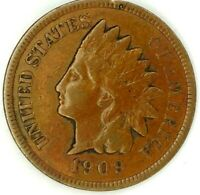 1909-P 1C INDIAN HEAD CENT 19UOA0714 50 CENTS SHIPPING