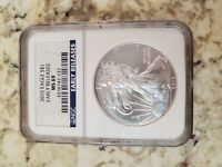 2010 AMERICAN SILVER EAGLE 1 OZ NGC MINT STATE 69 U. S. EARLY RELEASE $1 COIN 3377129-024