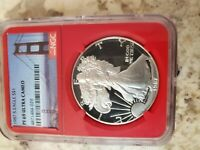 1988-S 1OZ PROOF AMERICAN SILVER EAGLE CERTIFIED NGC PF 69 ULTRA CAMEO  RED